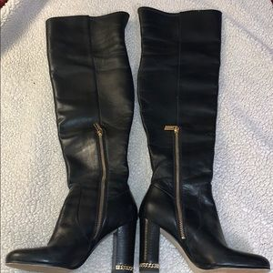MICHAEL KORS OVER THE KNEE LEATHER BOOTS SIZE 6